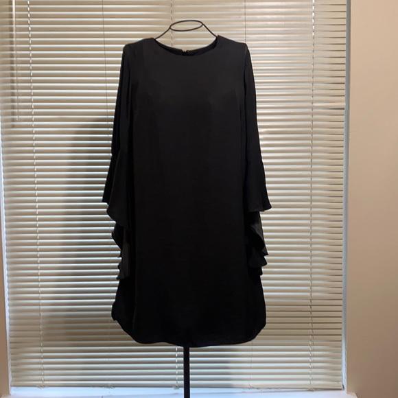 Who What Wear black dress w/ bell sleeves.